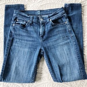 7 For All Mankind Ankle Skinny Jeans - size 25